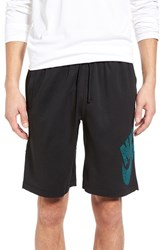 Nike Men's Sb 'Dot Sunday' Dri Fit Shorts Black Rio Teal