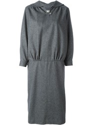 Comme Des Gara Ons Vintage Keyhole Collar Knit Dress Grey