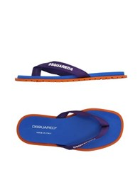 Dsquared2 Footwear Thong Sandals Men Purple