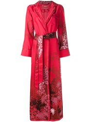 F.R.S For Restless Sleepers Floral Print Kimono Coat Red
