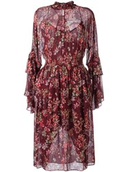 Iro Aamito Floral Dress Red