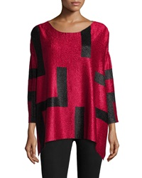 Berek 3 4 Sleeve Abstract Pullover Tunic