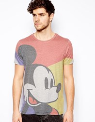 Asos T Shirt With Mickey Mouse Print Grey