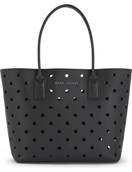 Marc Jacobs Perforated Leather Tote Black