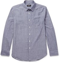 Rag And Bone Double Faced Cotton Shirt Blue
