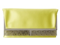 Bcbgmaxazria Milena Satin Foldover Clutch Bright Citron Clutch Handbags Orange