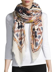 Bindya Ikat Print Wrap Tan Multi
