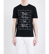 Sandro Pink Floyd Print Cotton T Shirt Black