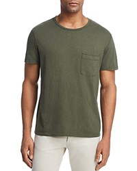 7 For All Mankind Heathered Pocket Tee Army Green