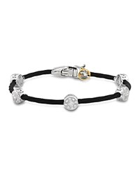 Alor Diamond Stud Black Cable Bangle