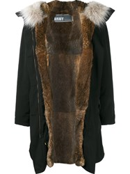 Yves Salomon Rabbit And Coyote Fur Lined Parka Brown