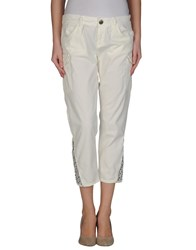 Toy G. Trousers 3 4 Length Trousers Women Ivory
