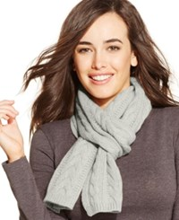 Charter Club Cable Cashmere Muffler Heather Crystal