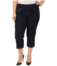 Jag Jeans Plus Size Echo Crop In Dark Shadow Comfort Denim Dark Shadow Women's Jeans Black