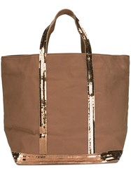 Vanessa Bruno Double Handles Large Tote Brown