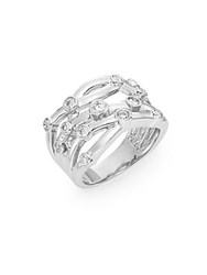 Effy Diamond And 14K White Gold Cutout Ring