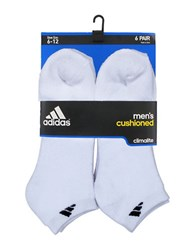 Adidas Six Pack Ankle Socks White