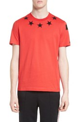 Givenchy Men's Star 74 T Shirt Red
