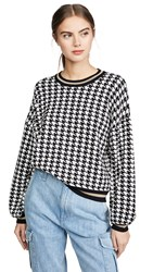 525 America Houndstooth Pullover Black Multi