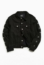 Bdg Grommet Denim Trucker Jacket Black