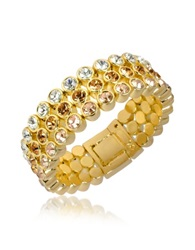 A Z Collection Three Tone Crystal Bracelet Gold