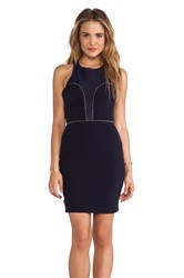 Becandbridge Magnetic Mesh Bustier Dress Navy