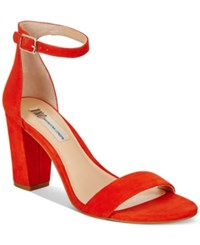 Inc International Concepts Kivah Block Heel Dress Sandals Only At Macy's Women's Shoes Spring Red