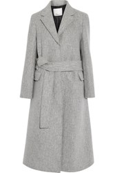 3.1 Phillip Lim Slim Wool Blend Coat Gray