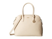 Dkny Tribeca Soft Tumbled Triple Zip Satchel W Det Shoulder Strap Sand Satchel Handbags Beige