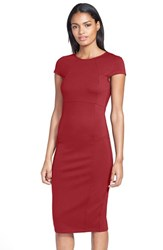 Petite Women's Felicity And Coco Seamed Pencil Dress Rumba Red