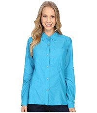 Exofficio Lightscape Long Sleeve Shirt Deep Sea Women's Long Sleeve Button Up Navy
