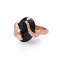 Alexandra Alberta Gaia Onyx Ring Black Rose Gold