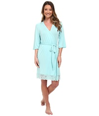 P.J. Salvage Rayon Basic Robe Turquoise Women's Robe Blue