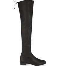 Stuart Weitzman Lowland Leather Thigh Boots Black