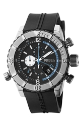 Brera 'Sottomarino' Chronograph Diver Watch 48Mm Black Silver