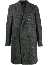 Fay Double Breasted Checked Coat 60