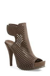 Pedro Garcia Women's 'Persis' Perforated Suede Platform Sandal Fox Suede