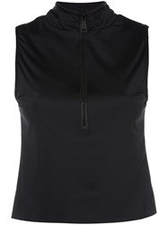 Natasha Zinko Half Zip Sleeveless Top 60