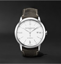 Baume And Mercier Classima Automatic 42Mm Stainless Steel Leather Watch Anthracite