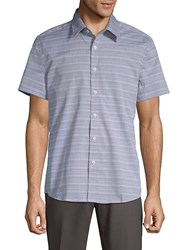 Hyden Yoo Tyler Cotton Button Down Shirt Grey Multi