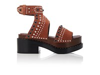 3.1 Phillip Lim Women's Nashville Studded Suede Platform Sandals Tan