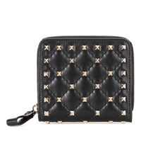 Valentino Garavani Rockstud Spike Leather Wallet Black