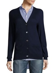 Polo Ralph Lauren Cashmere V Neck Cardigan Bright Navy