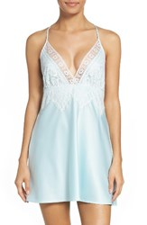 Flora Nikrooz Women's Lace And Charmeuse Chemise