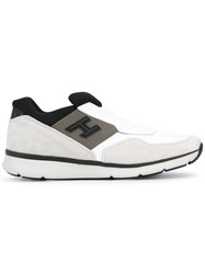 Hogan Traditional 20.15 Sneakers Men Leather Polyester Rubber 6.5 White
