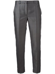 Max Mara 'S Checked Cropped Trousers Blue
