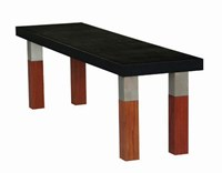 Modern Outdoor Kenji Bench Multicolor