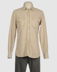 Original Vintage Style Long Sleeve Shirts Khaki