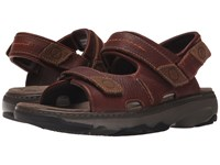Clarks Raffe Coast Brown Leather Men's Sandals