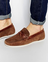 Red Tape Tassel Loafer In Brown Suede Tan